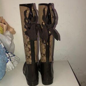 Coach Shoes - Brown coach rain boots